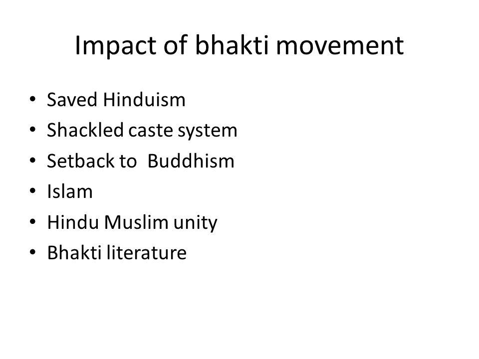 Impact of bhakti movement
