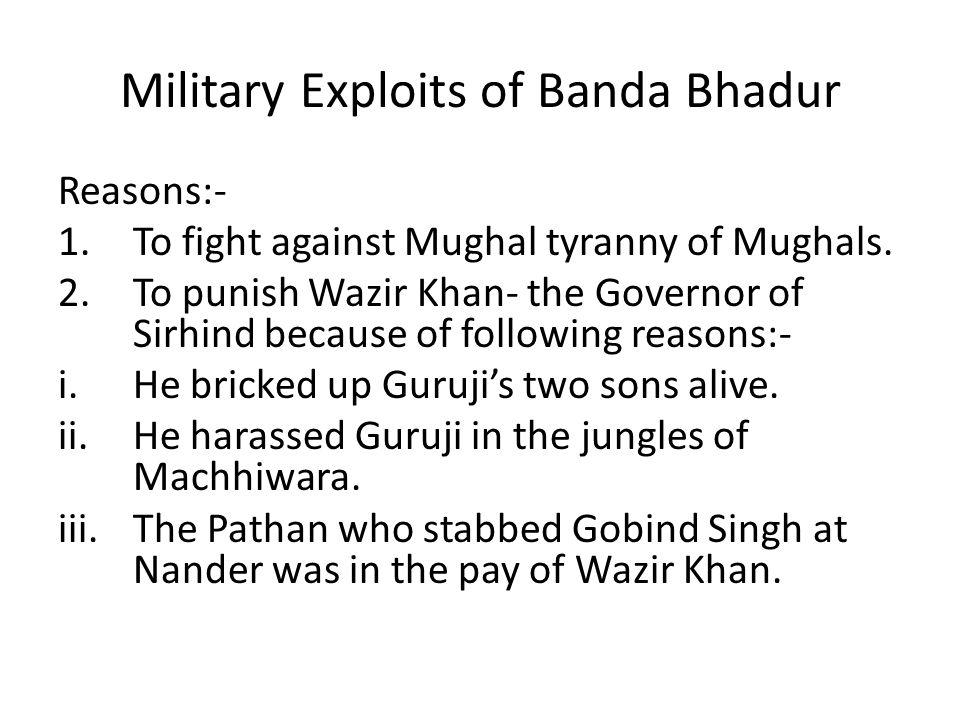Military Exploits of Banda Bhadur