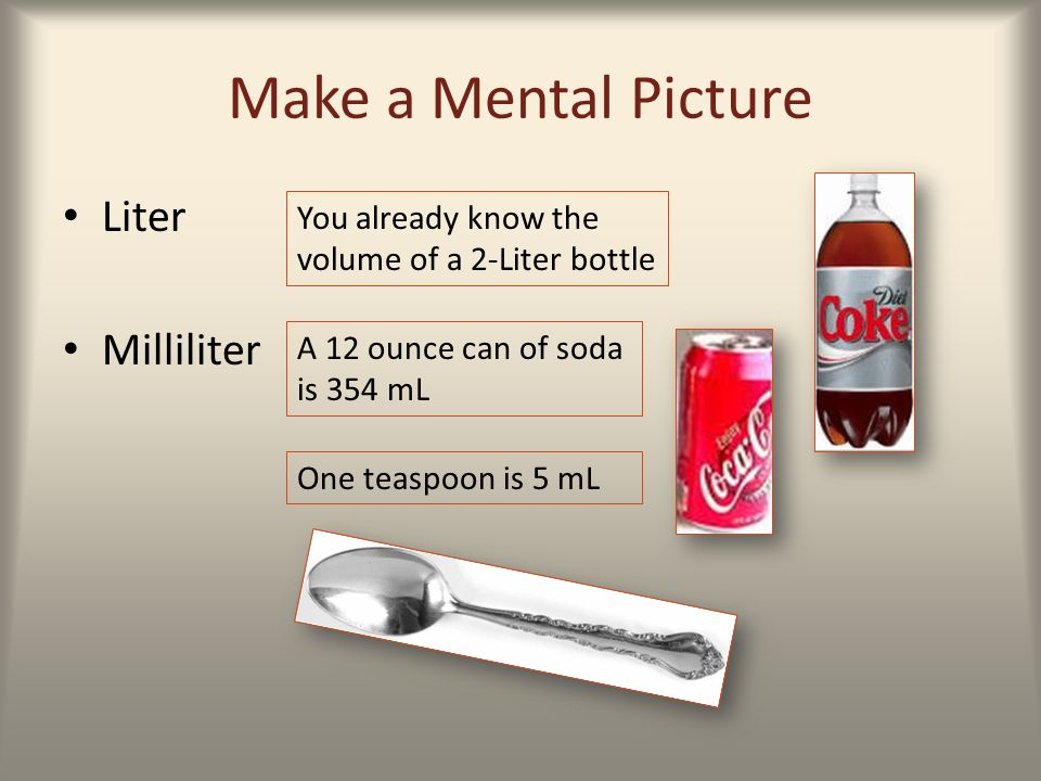 Success medical mathematics ppt video online download - How many milliters in a liter ...