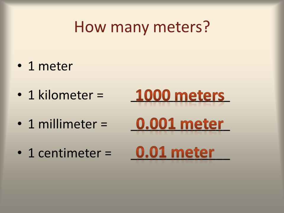 how to make a meter