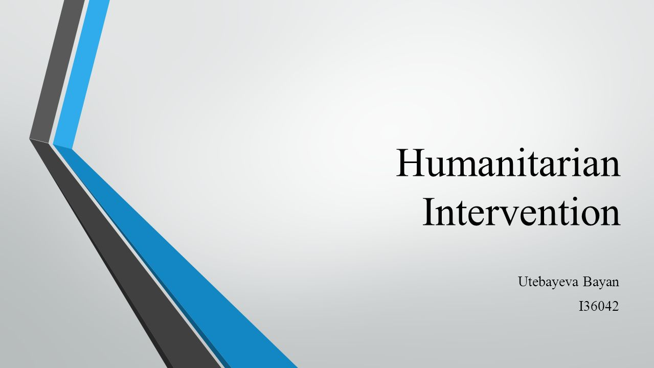 humanitarian interv