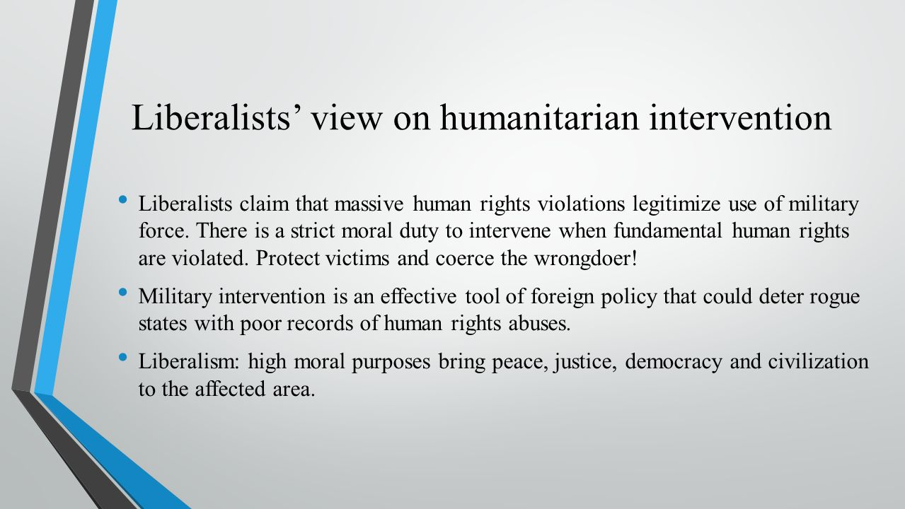 an introduction to the importance of humanitarian intervention Diplomacy should focus on the humanitarian situation and the need for civilian protection rather than or as well as finding a political solution it is important to expose the hypocrisy of the.