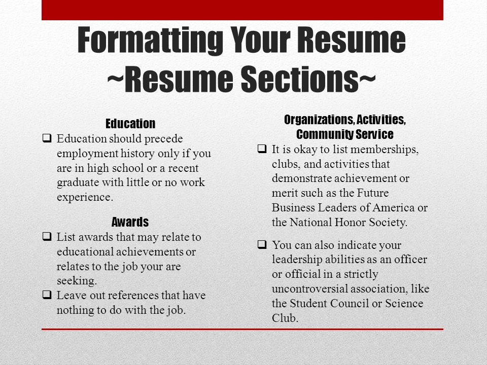 Basic Resume Writing. - Ppt Video Online Download