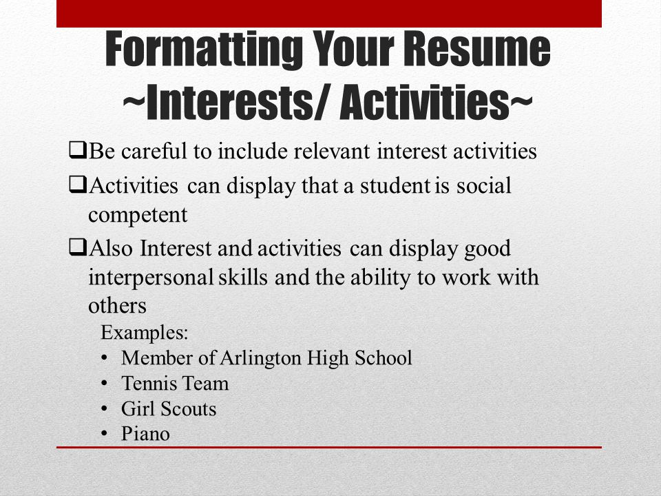 basic resume writing ppt download