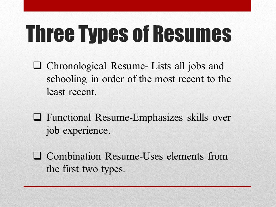 basic resume writing
