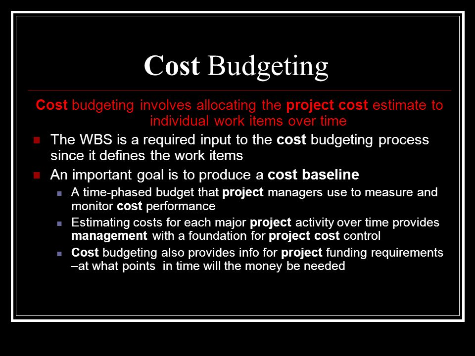 major inputs to the master budget and the usefulness of each Look at the headings used in the previous year and use them as a starting   make sure you speak to all stakeholders before drawing up the budget,   opportunity to provide input and that nothing has been missed  ask some  important questions  the master budget is a group of budgets required to run  an enterprise.