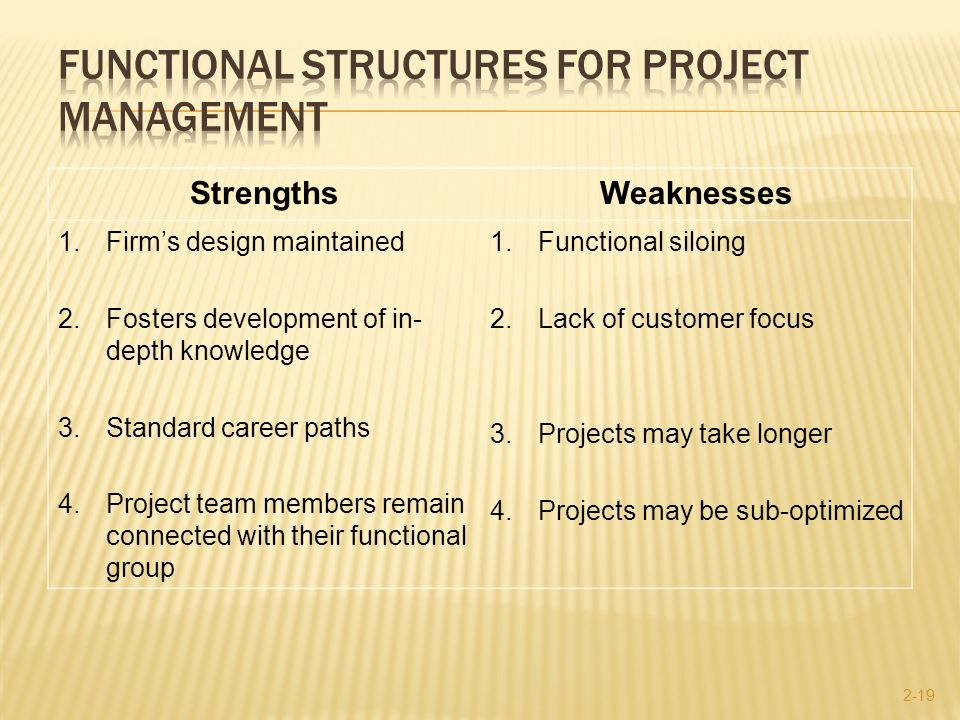 strengths and weaknesses of project management In order for the strengths, weaknesses, opportunities and threats (swot)  analysis to be effective, project management must do more than simply identify  the.