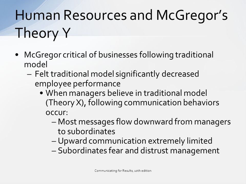 critical evaluation of human resources theories What is critical evaluation in  mcgregor sees these two theories as two quite  that it is under estimatingthe potential of its human resources,.