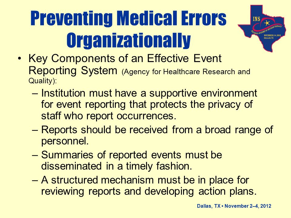 preventing medical errors Medication errors have important implications for patient safety,  (medical charts and laboratory data,  preventing medication errors.