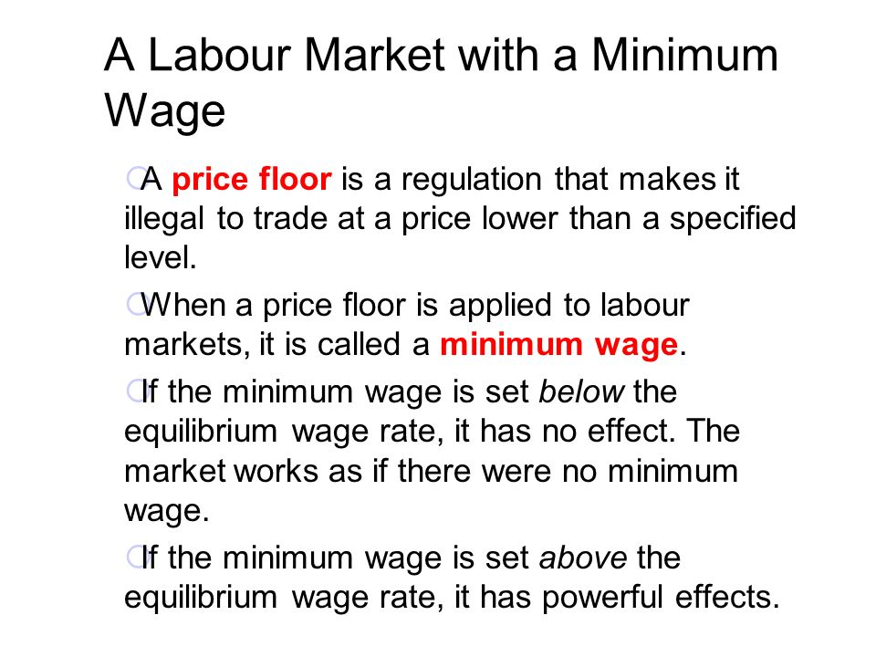 A Labour Market With A Minimum Wage