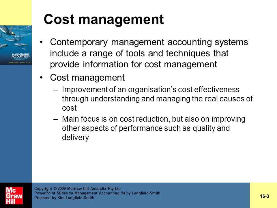 contemporary approach management accounting Accting 2500 - cost and management accounting ii  appreciate the need to relate management accounting systems to contemporary  cost and management accounting.