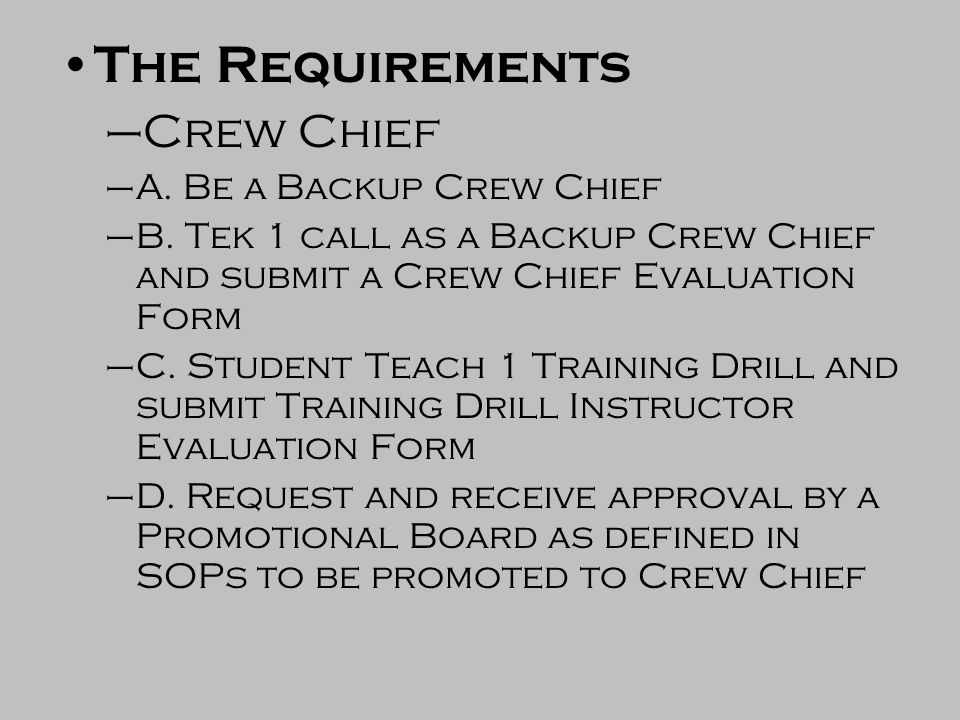 Crew Chief Class. - Ppt Video Online Download