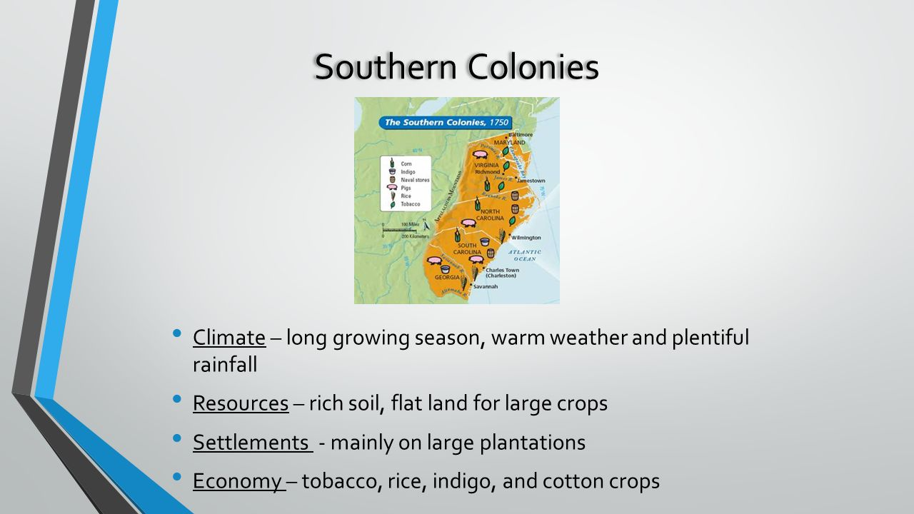 3 regions  new england middle colonies southern colonies