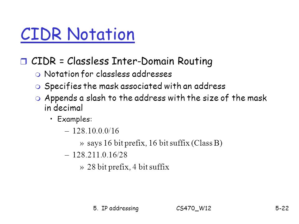 how to get cidr with decimal