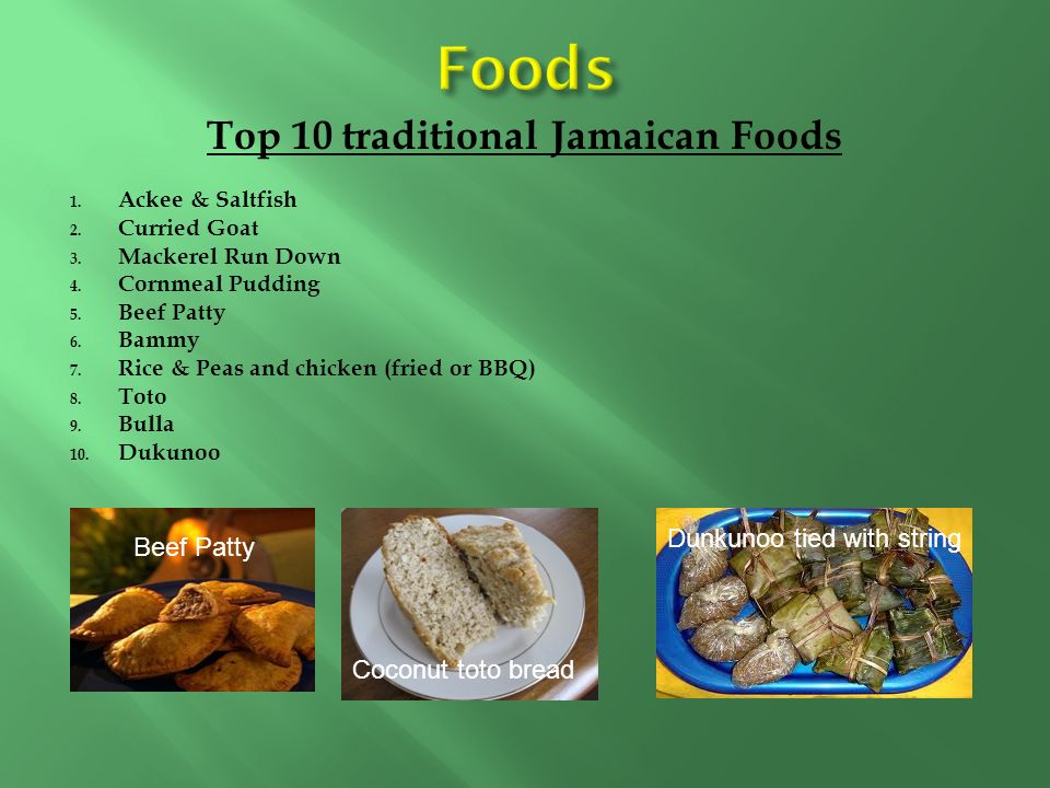 Traditional Jamaican Food List