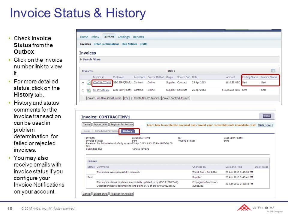 Invoice Status U0026 History  Check Invoice