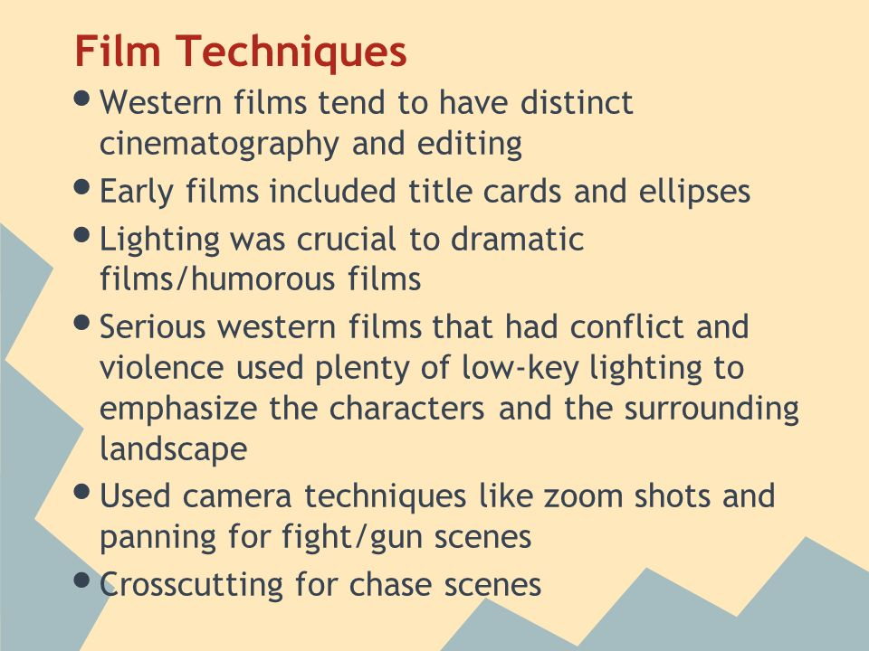 film techniques used to emphasize themes An introduction to the role that camera techniques play in narrative film   establishing shots are often used at the beginning of scenes to establish the  setting  close-up emphasizing something about that character's appearance   the heroic theme the audience has come to associate with harvey dent.