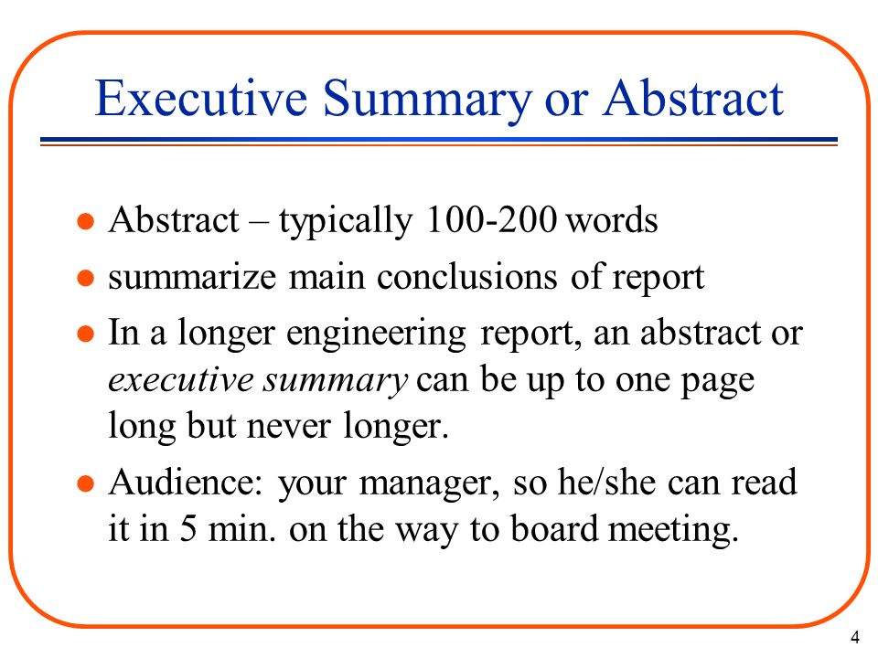 Sample executive summary for a project report   Buy Original     Abstract and executive summary