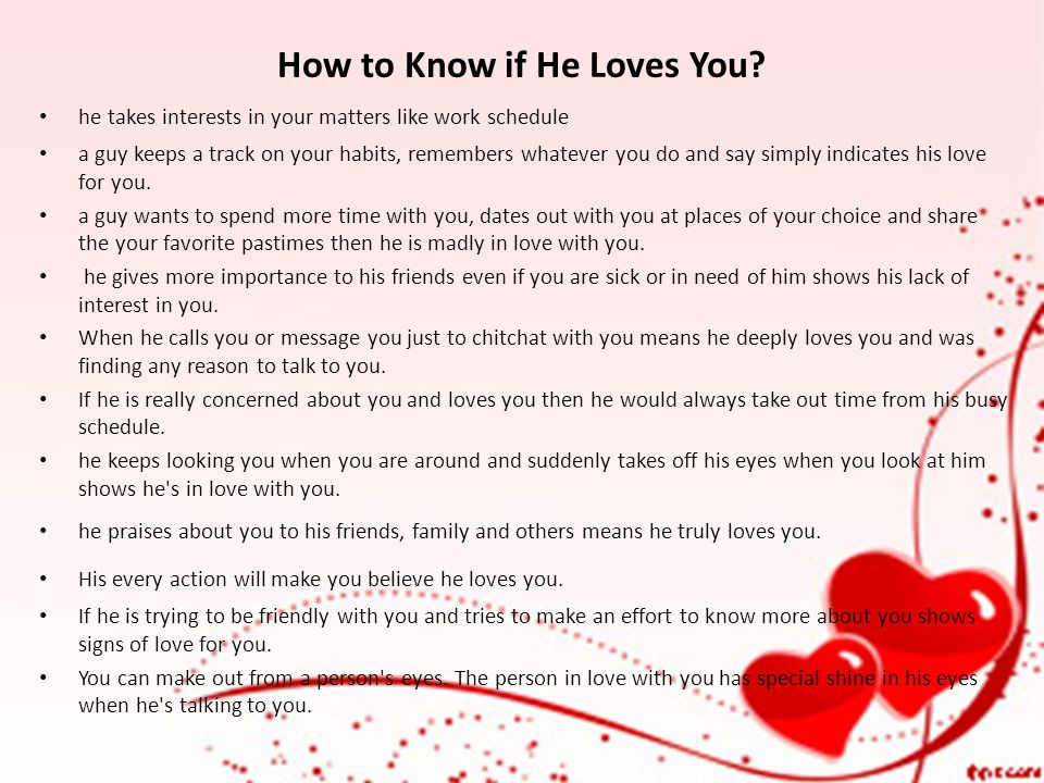 How to know if a guy you're dating likes you