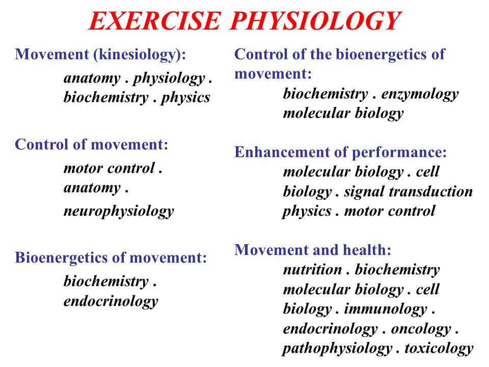 EXERCISE PHYSIOLOGY Movement (kinesiology): - ppt download