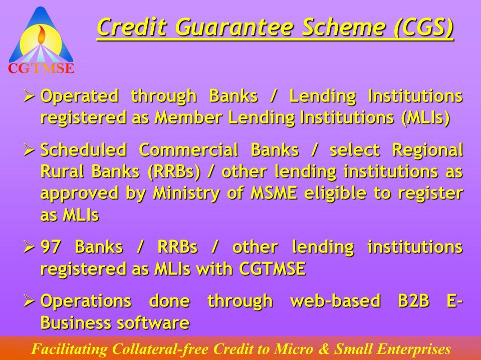 Credit Guarantee Scheme (CGS)