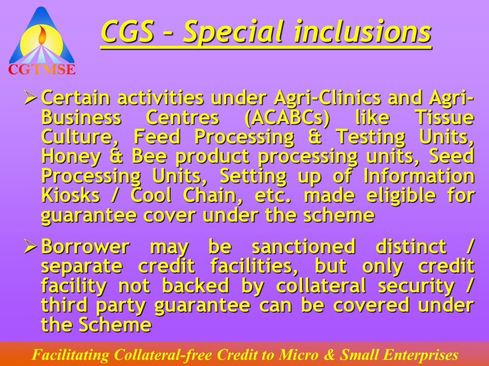 CGS – Special inclusions