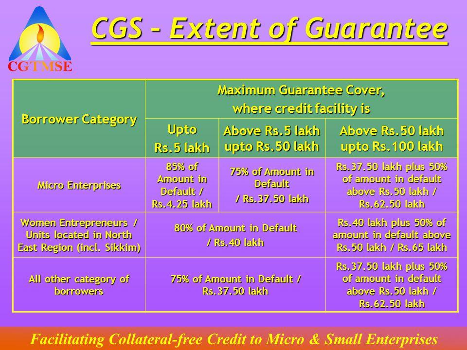 CGS – Extent of Guarantee