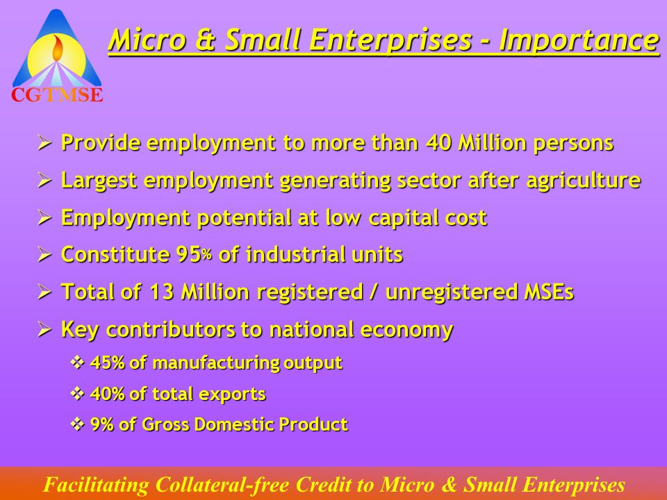Micro & Small Enterprises - Importance