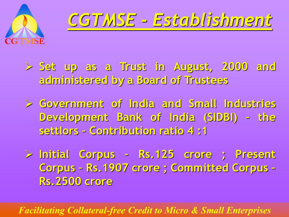 CGTMSE - Establishment