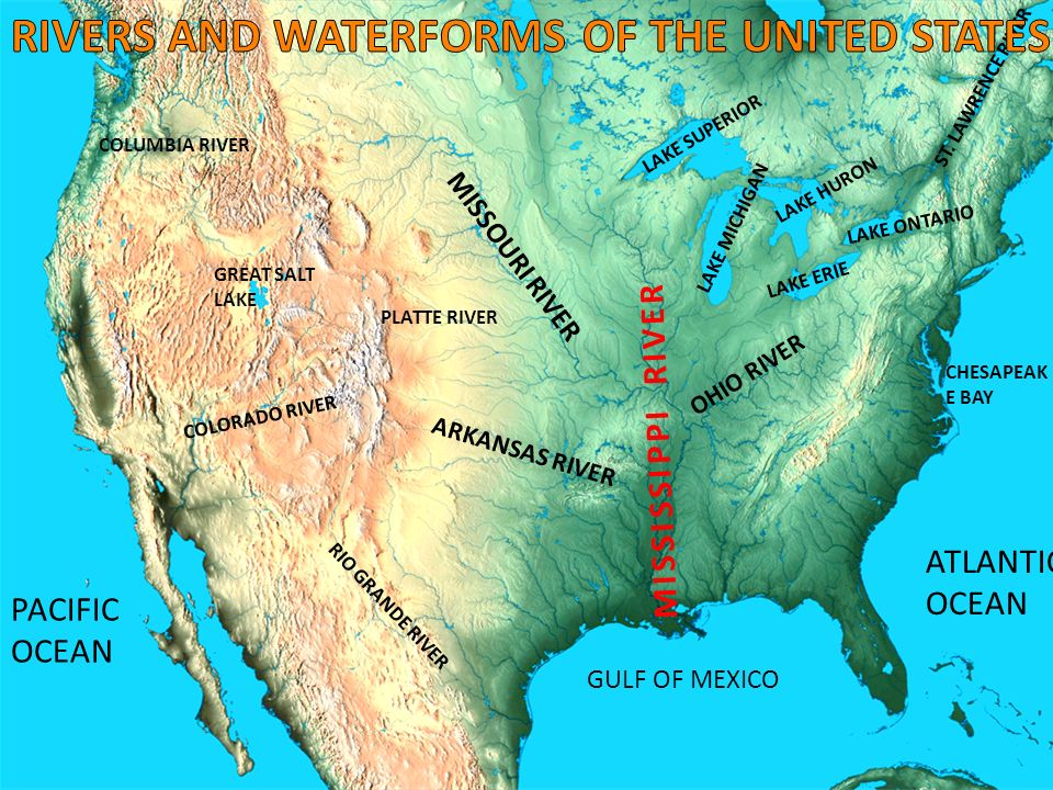 January The United States In This Is A Map Outlining - St lawrence river on us map