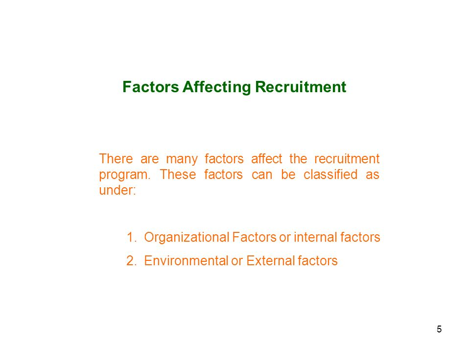 describe internal and external factors that impact on the employment relationship