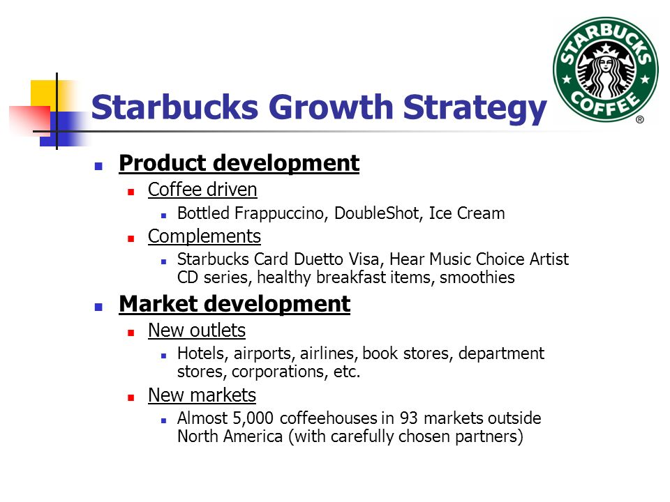 Coffee and starbucks marketing strategy