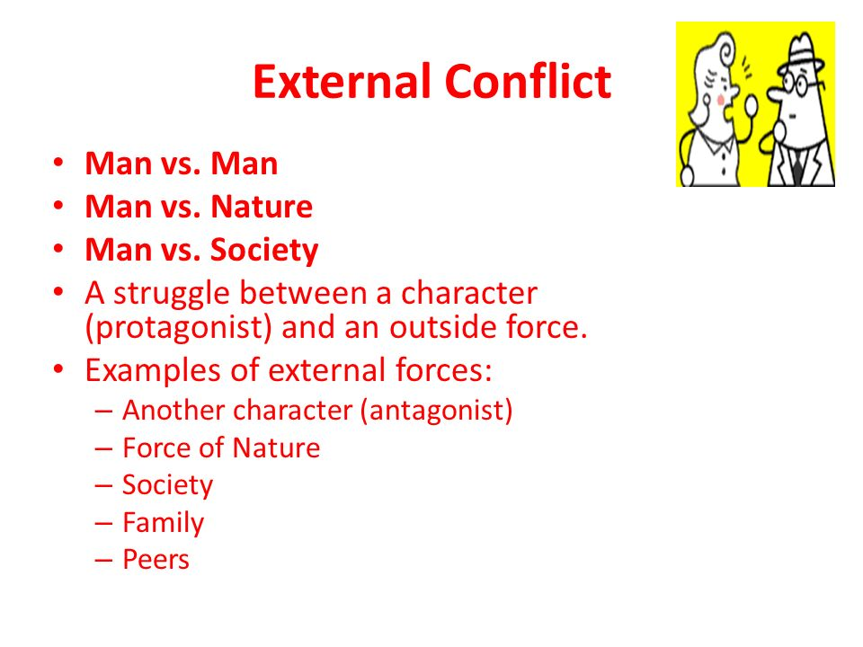 man vs nature conflicts Joshua that would fall under man vs nature i see a lot of man vs man and man vs nature conflicts in this story.