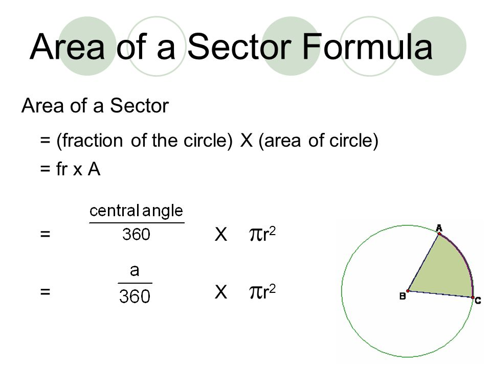 how to get the radius of a circle with area