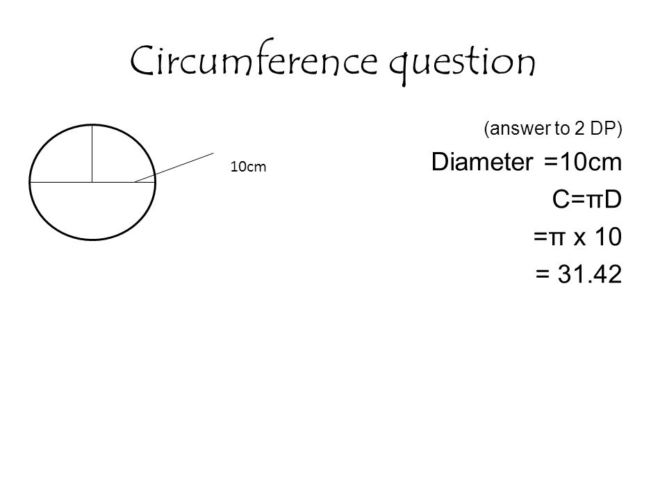 how to work out diameter from circumference