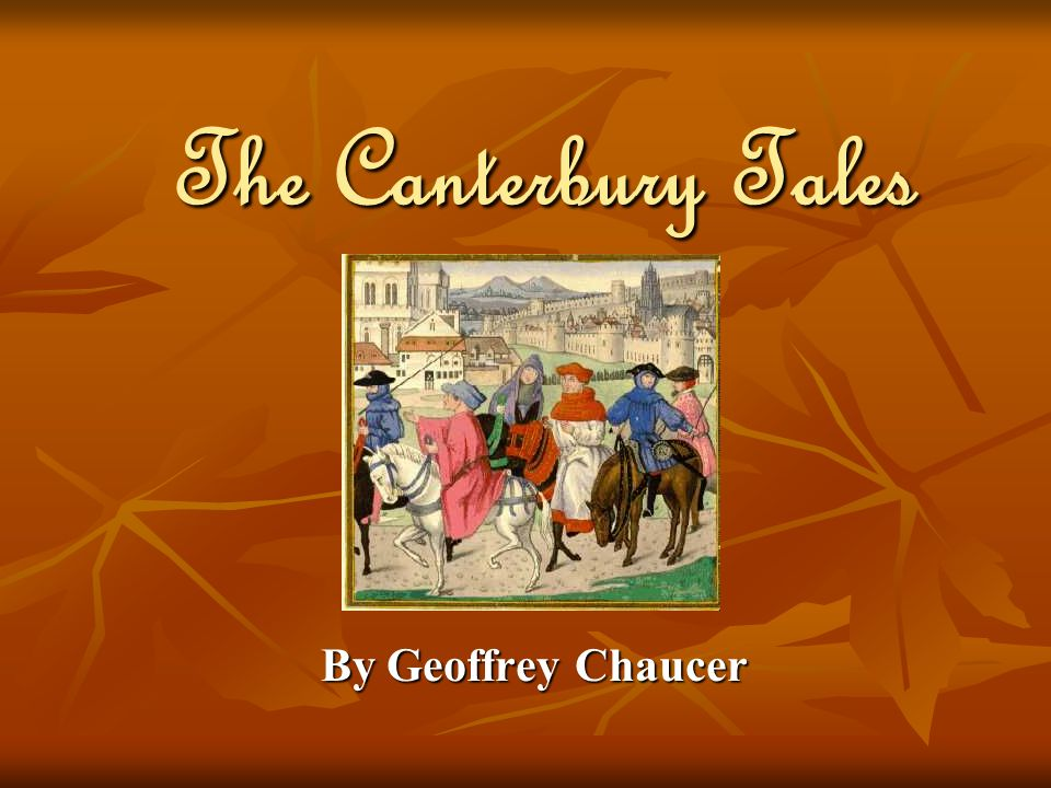 an overview of the frame story the canterbury tales by geoffrey chaucer Geoffrey chaucer the wife of bath's tale dreamthorp background in the canterbury tales, chaucer uses a form that had been used beforethe frame tale.