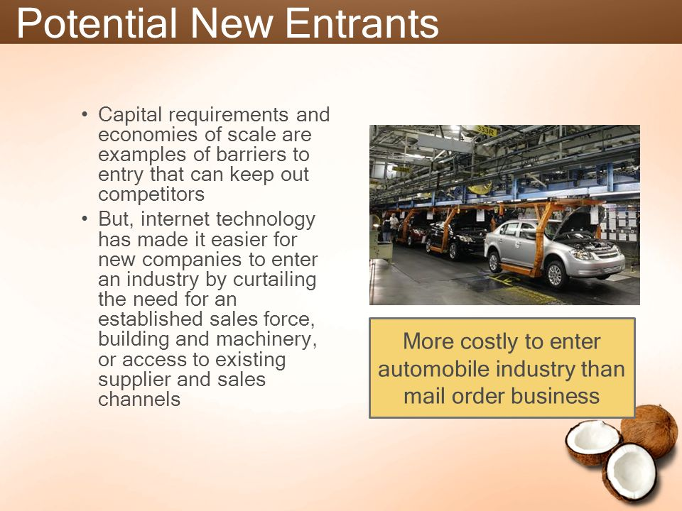 barriers for entry in automobile industry india Primary and ancillary barriers to entry a primary barrier to entry is a cost that  for other manufacturers to enter an industry switching barriers.