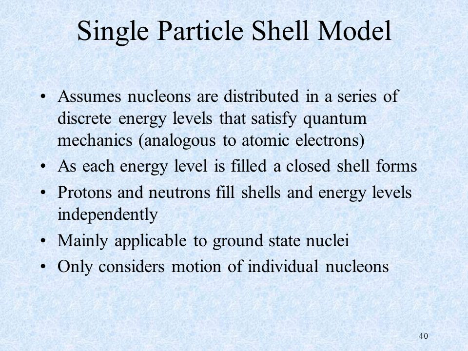 single particle shell model pdf