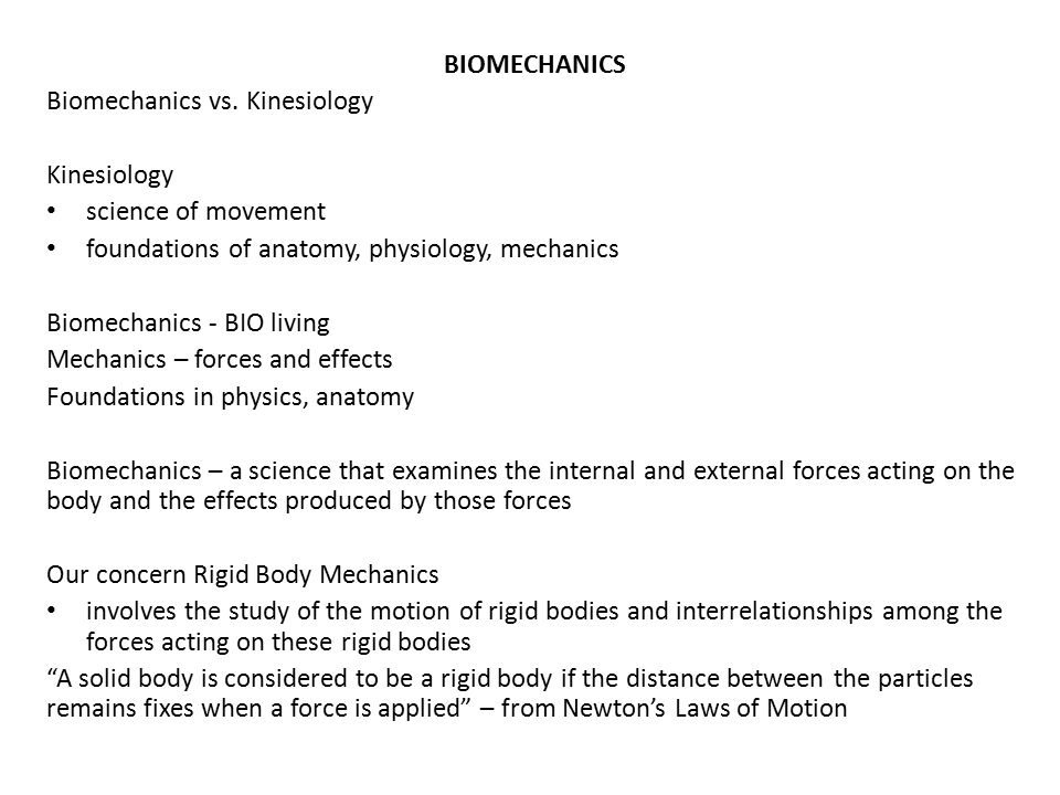Biomechanics Biomechanics Vs Kinesiology Kinesiology Ppt Video