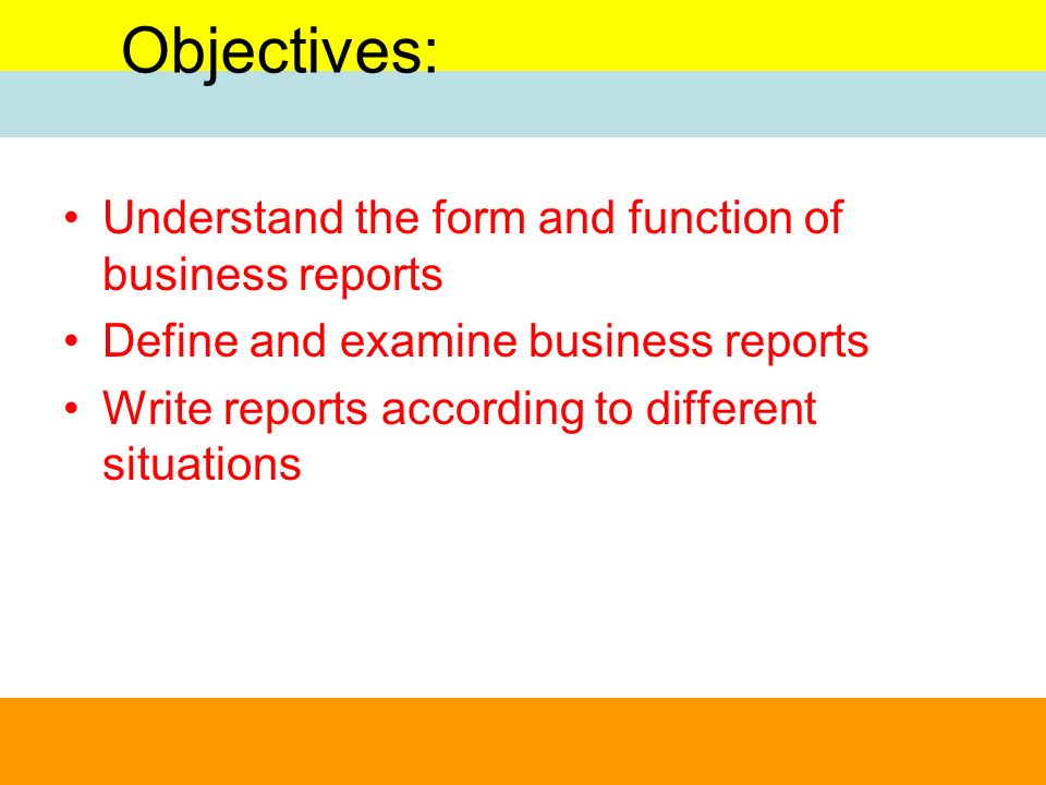 What is the Purpose of Business Reports?