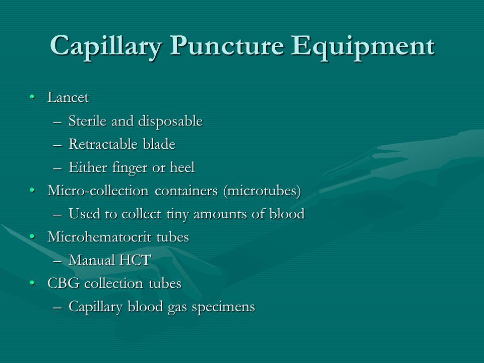 Capillary puncture aka capillary dermal or skin puncture ppt capillary puncture equipment sciox Gallery