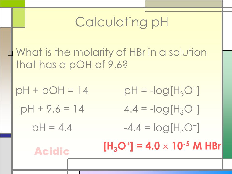 PH Scale Indicators ppt video online download – Ph and Poh Calculations Worksheet
