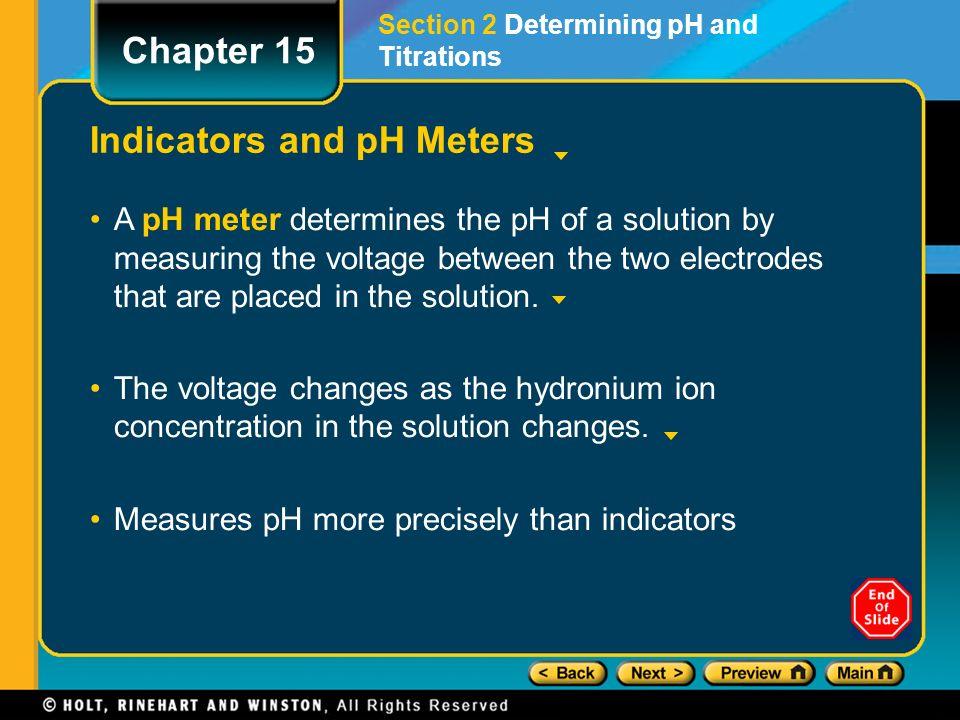 indicators and ph measurements Cact homepage acidbase: indicators skills to develop explain color changes of indicators determine the acidic dissociation constants k a or k ai of indicators.