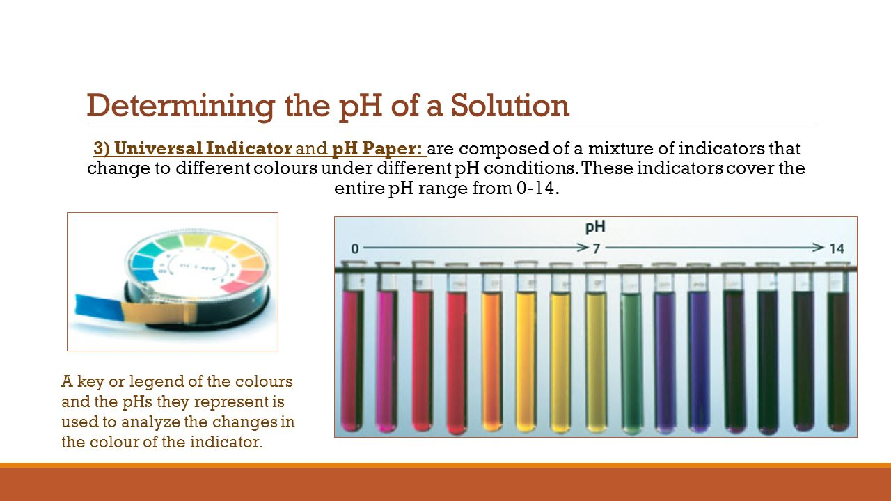 Section 6.2 The pH scale and Indicators - ppt download for Ph Scale Universal Indicator  284dqh