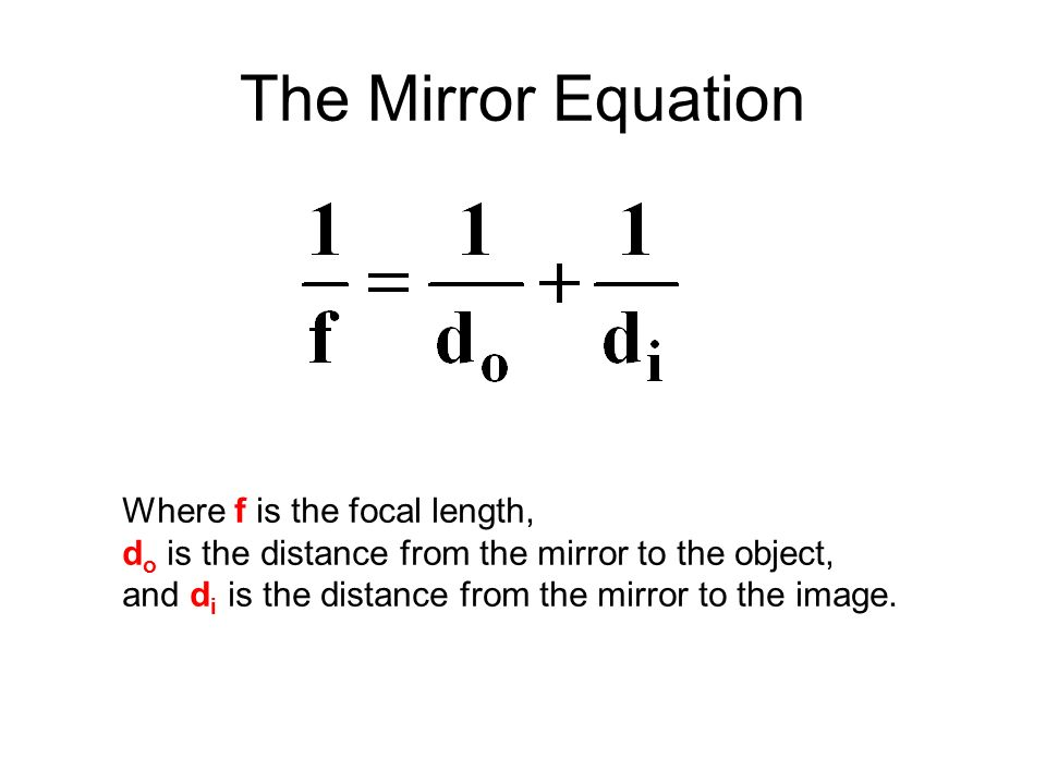 Reflection and mirrors ppt video online download for Mirror formula