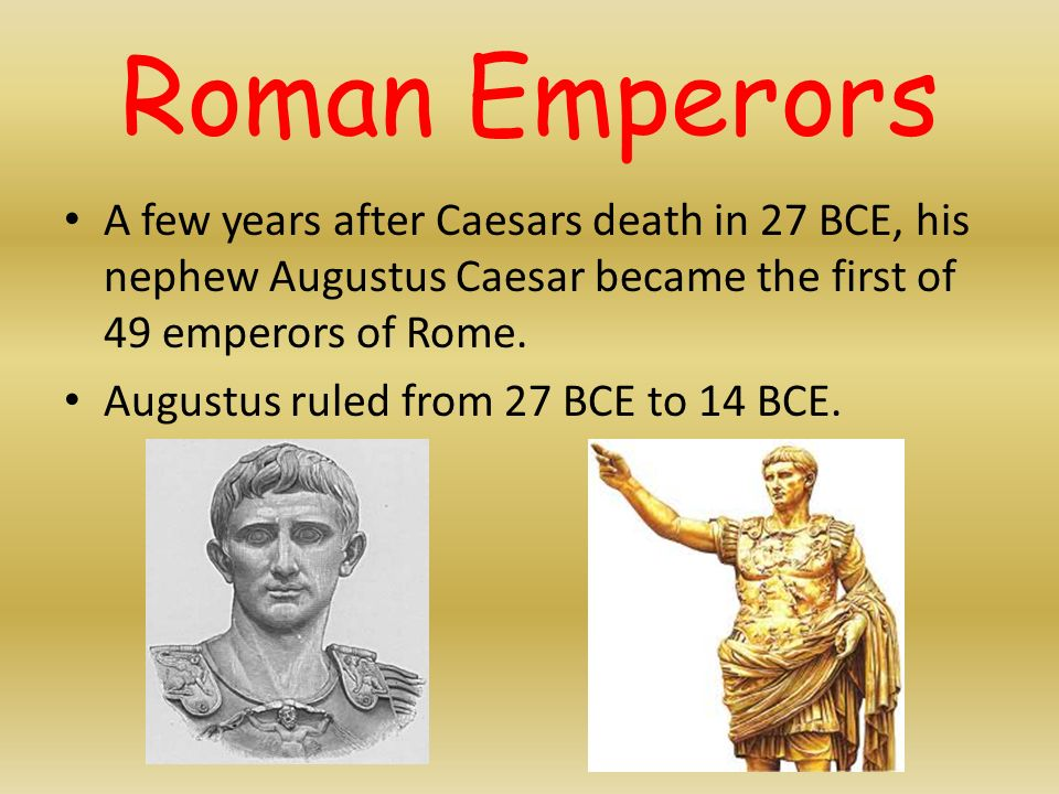 a biography of augustus caesar the most important roman emperor Caesar augustus, or octavian, became the first emperor of the roman empire after julius caesar died the country was peaceful under augustus's rule.