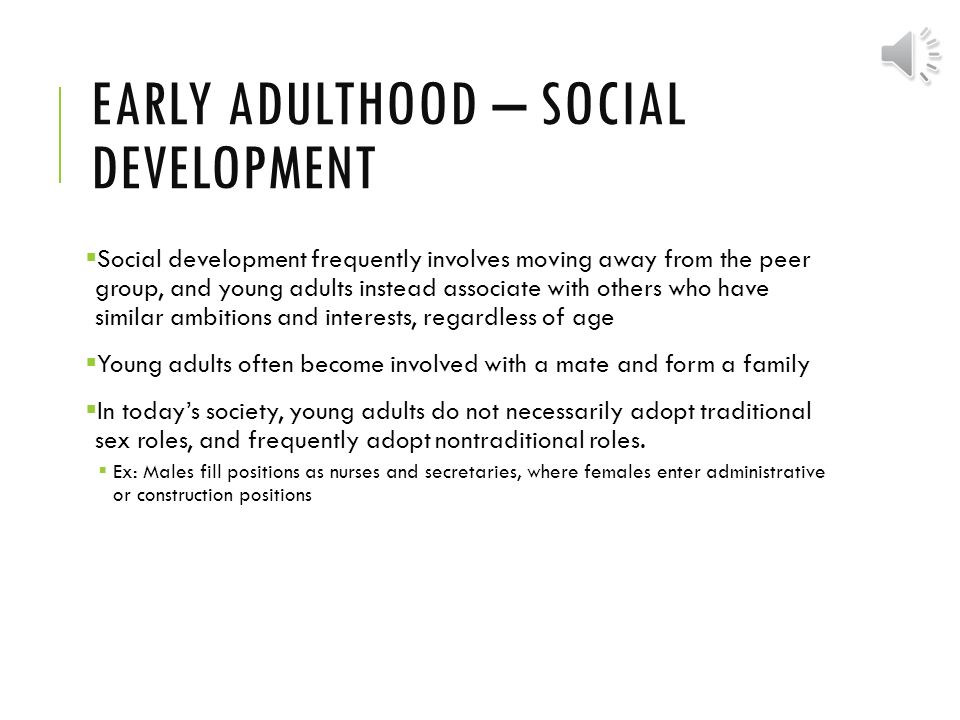 sociemotional development adult