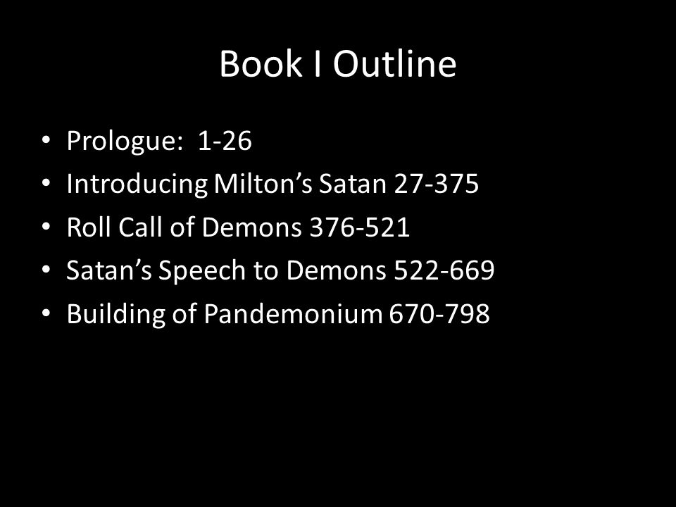 analysis of belial speech in paradise lost by john milton The character analysis of satan and beelzebub in book i, ii and iv in paradise lost  references milton, john (1975) paradise lost, new york: norton publication.