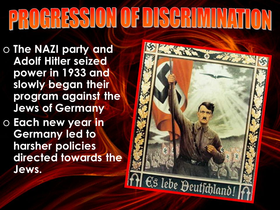 nazi party and the discrimination of jews in germany The coming to power of adolf hitler (link in czech) and the nsdap saw the  beginning of a process in which jews were excluded from german society,  bullied.