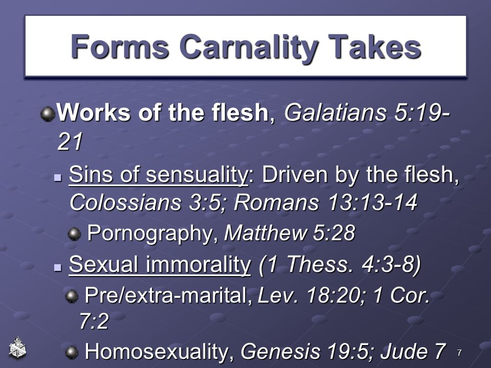 Image result for carnality sin